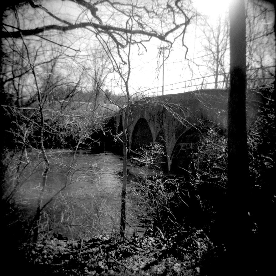 Black & White Photograph - Boiling Springs Bridge by Jean Macaluso