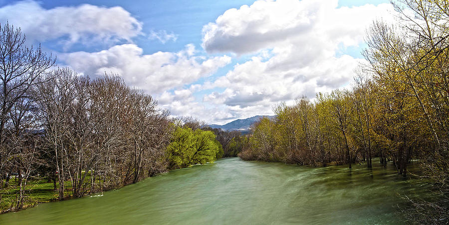 Rivers Photograph - Boise River During The Spring Runoff by Paul Budge