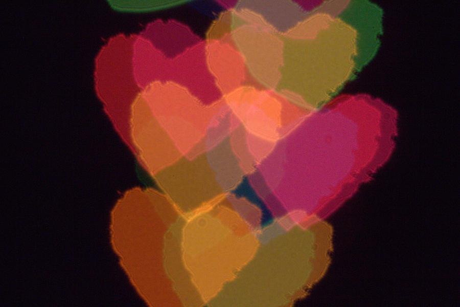 Heart Photograph - Bokeh Hearts 1 by Liz Allyn