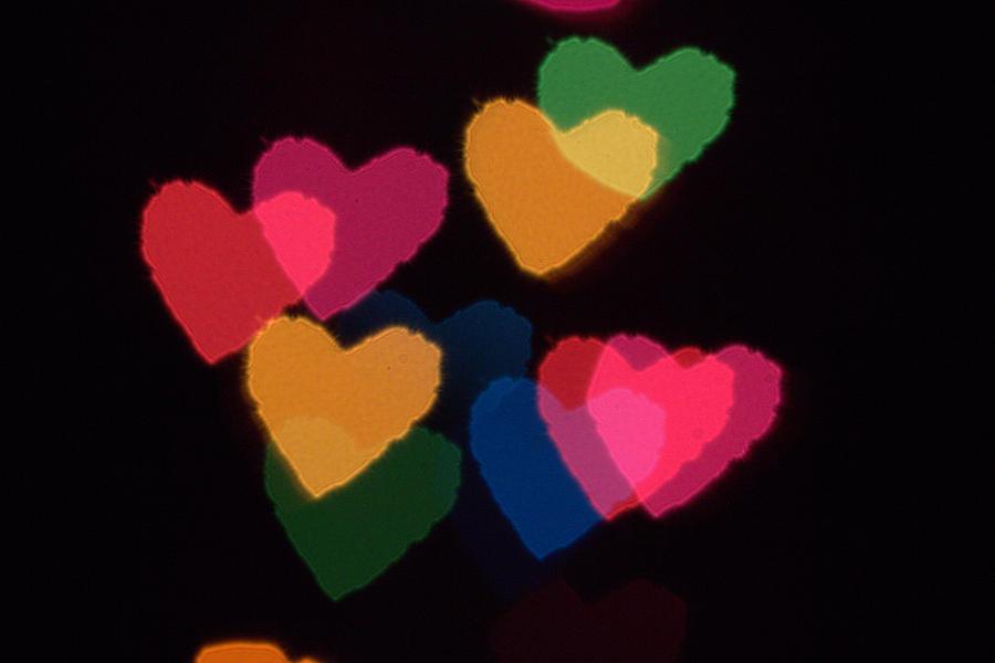 Heart Photograph - Bokeh Hearts 3 by Liz Allyn