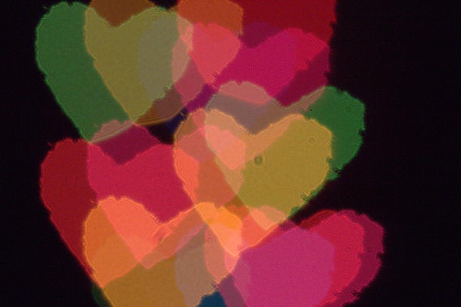 Heart Photograph - Bokeh Hearts 4 by Liz Allyn