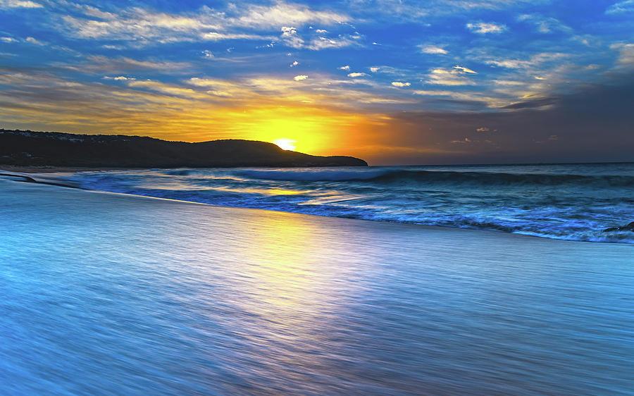 Australia Photograph - Bold And Blue Sunrise Seascape by Merrillie Redden