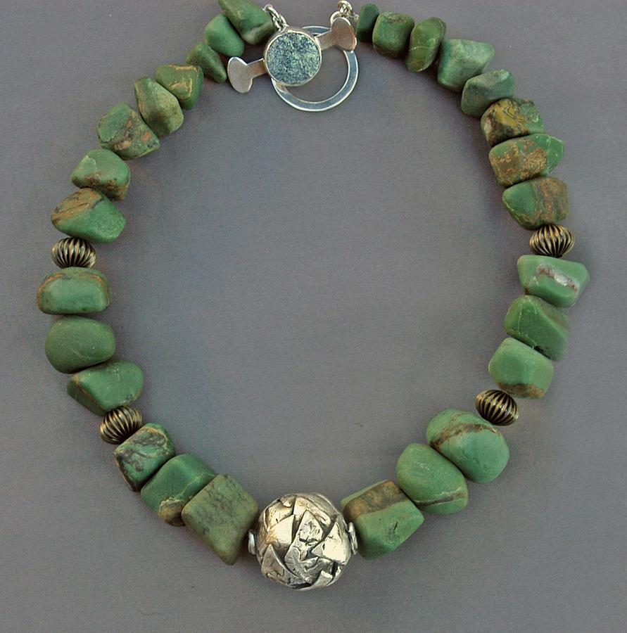 Fine Silver Jewelry - Bold Bead Necklace by Mirinda Kossoff