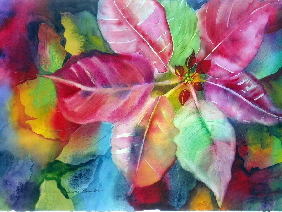 Flower Painting - Bold Bloom by Maritza Bermudez