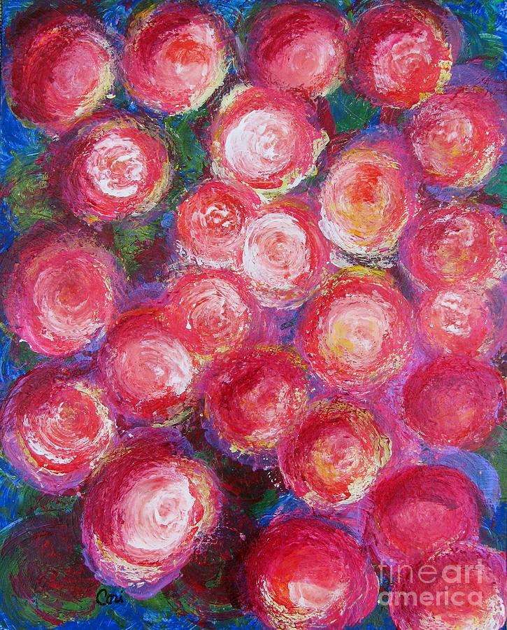 Rose Painting - Bold Bunch by Corinne Carroll