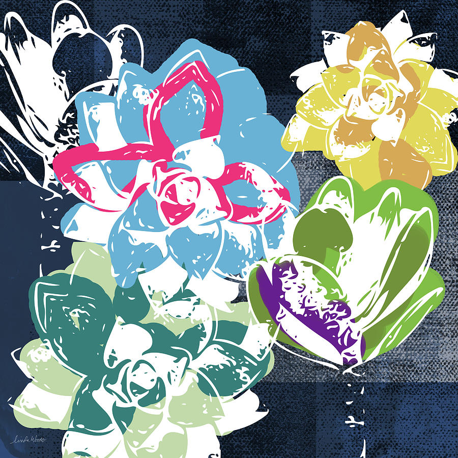 Succulents Mixed Media - Bold Succulents 2- Art by Linda Woods by Linda Woods
