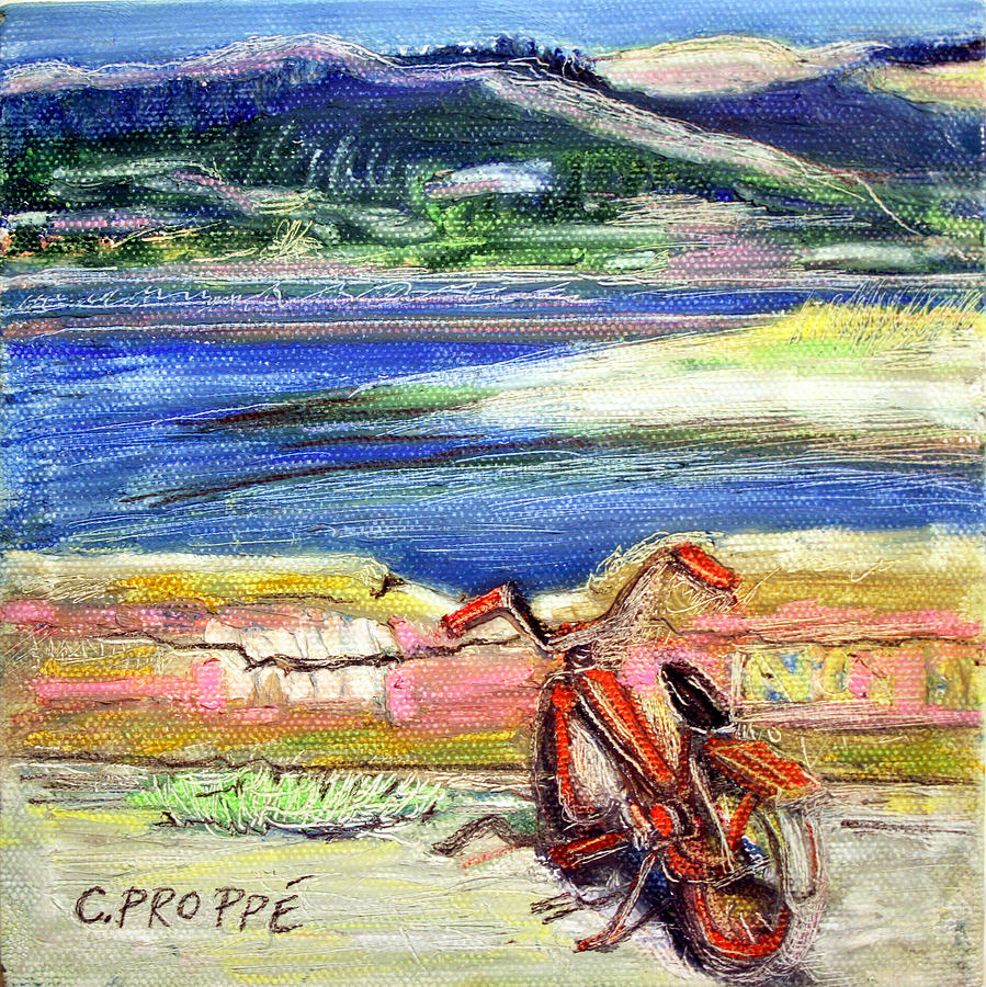 Bike Painting - Bolinas Bike by Colleen Proppe