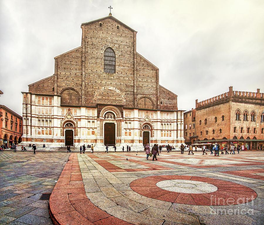 Abbey Photograph - Bologna, Italy San Petronio Basilica Facade Crescentone by Luca Lorenzelli