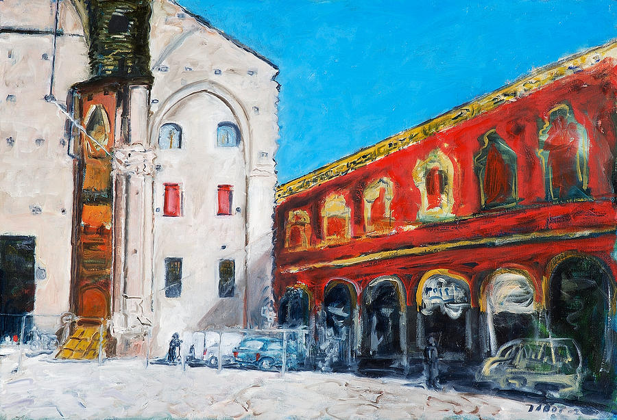 Bologna Plaza Painting by Joan De Bot