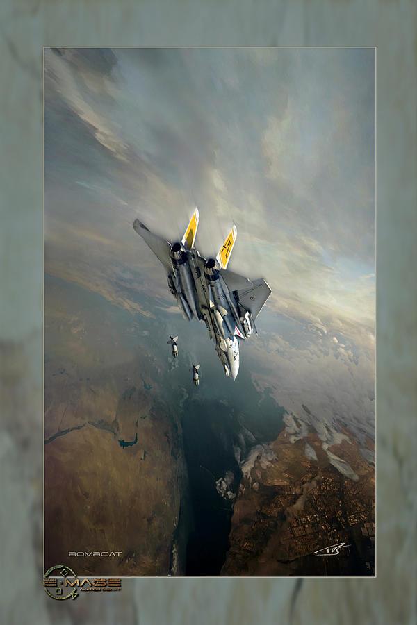 War Digital Art - Bombcat Two by Peter Van Stigt