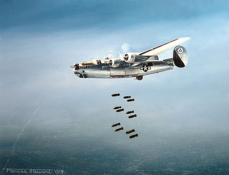 Aviation Painting - Bombs Away by Marc Stewart