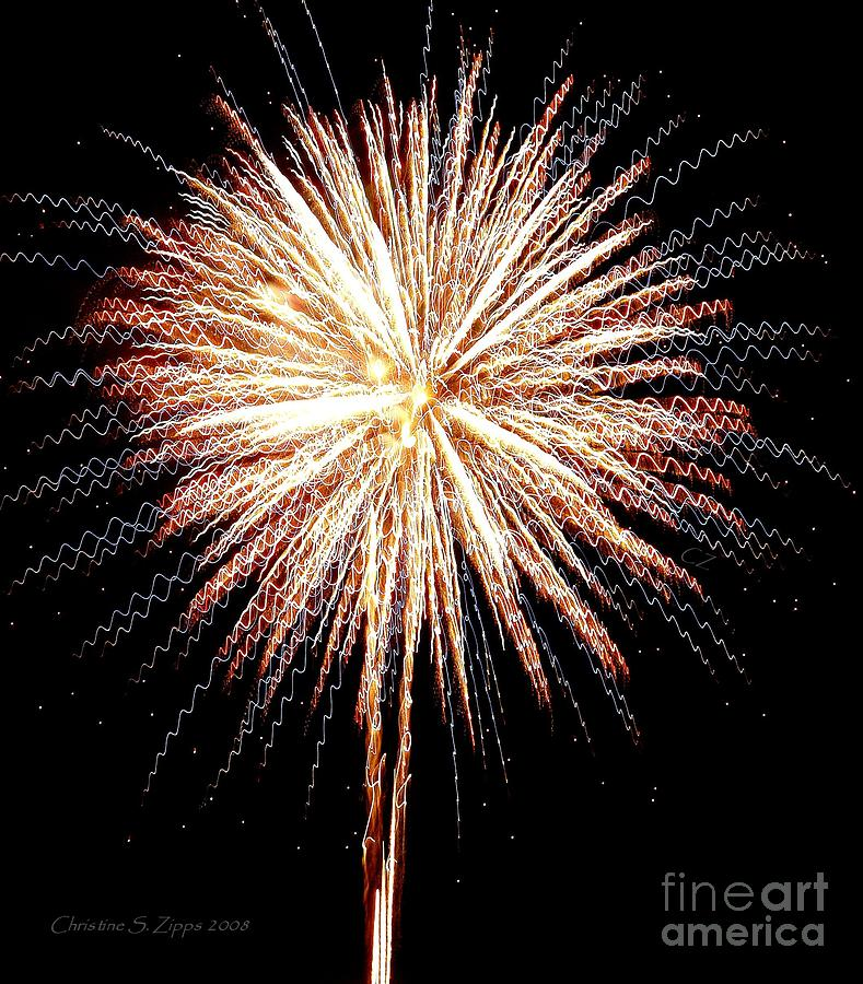 Fireworks Photograph - Bombs Bursting In Air by Christine S Zipps