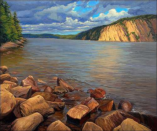 Bon Echo Painting - Bon Echo - Ontario by Dmitry Oivadis