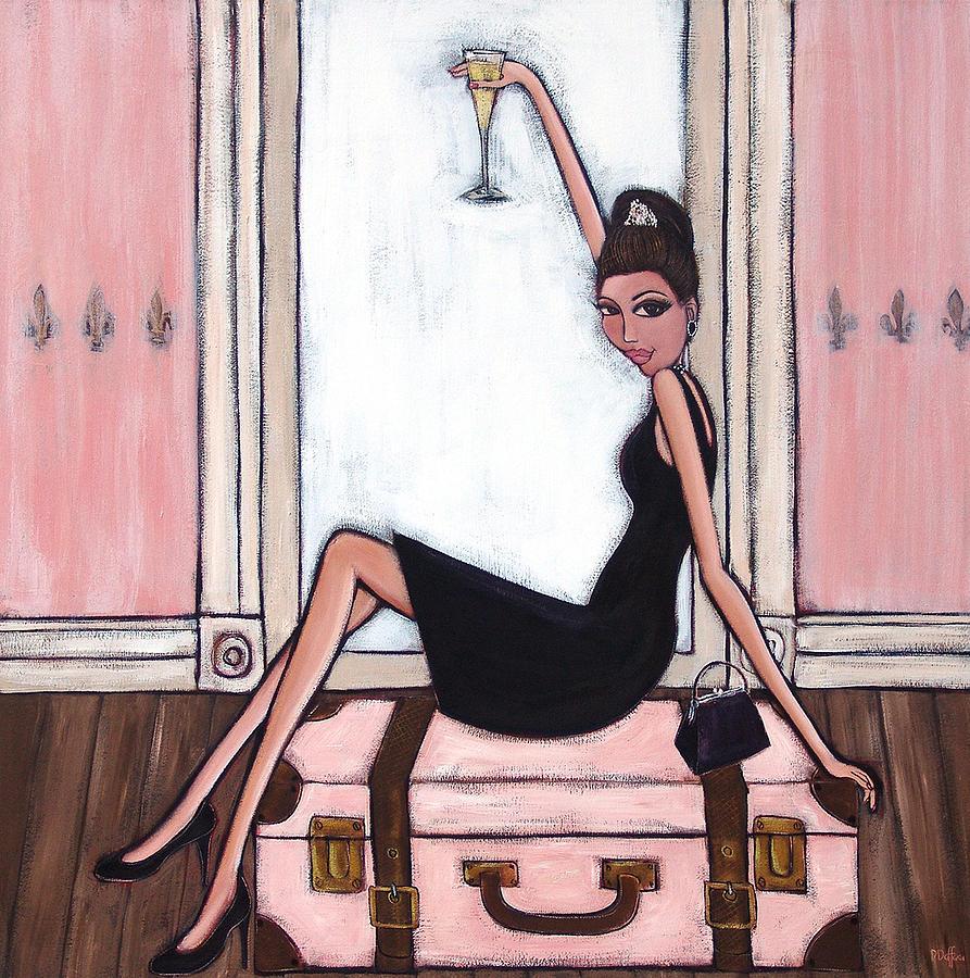 Audrey Hepburn Painting - Bon Jour by Denise Daffara