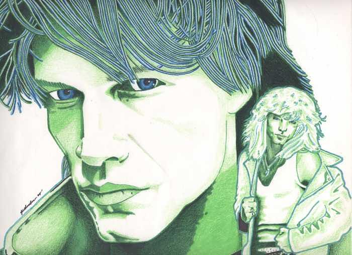 Bon Jovi Painting - Bon Jovi-Stylized by Kyle Adamache