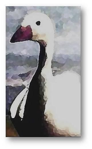 Goose Painting - Bon Voyage by Brenda Garacci