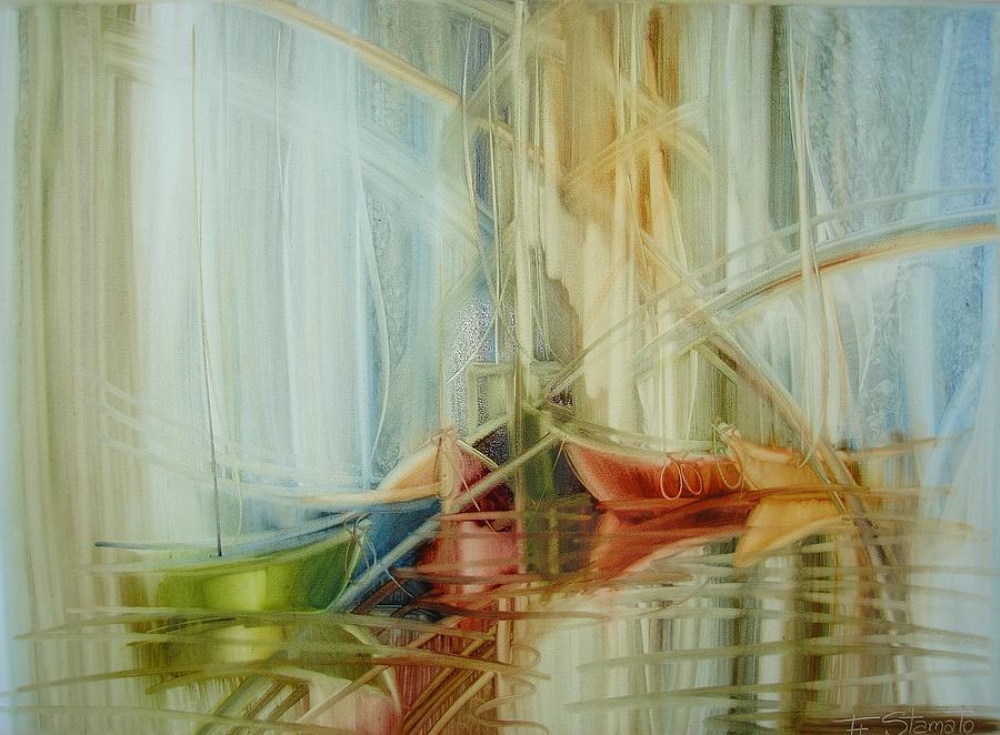 Marine Painting - Bon Voyage by Fatima Stamato