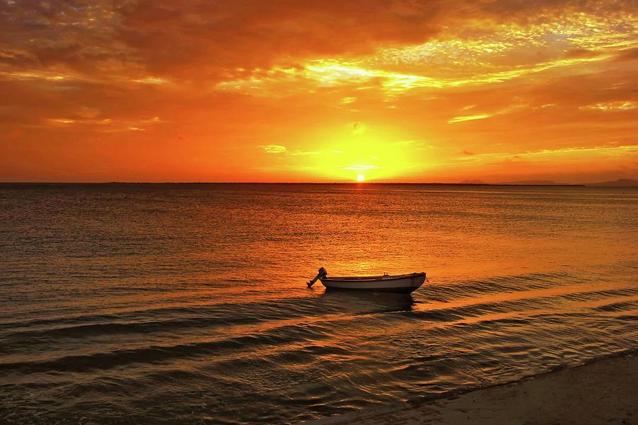 Bonaire Photograph - Bonaire Sunset 4 by Stephen Anderson