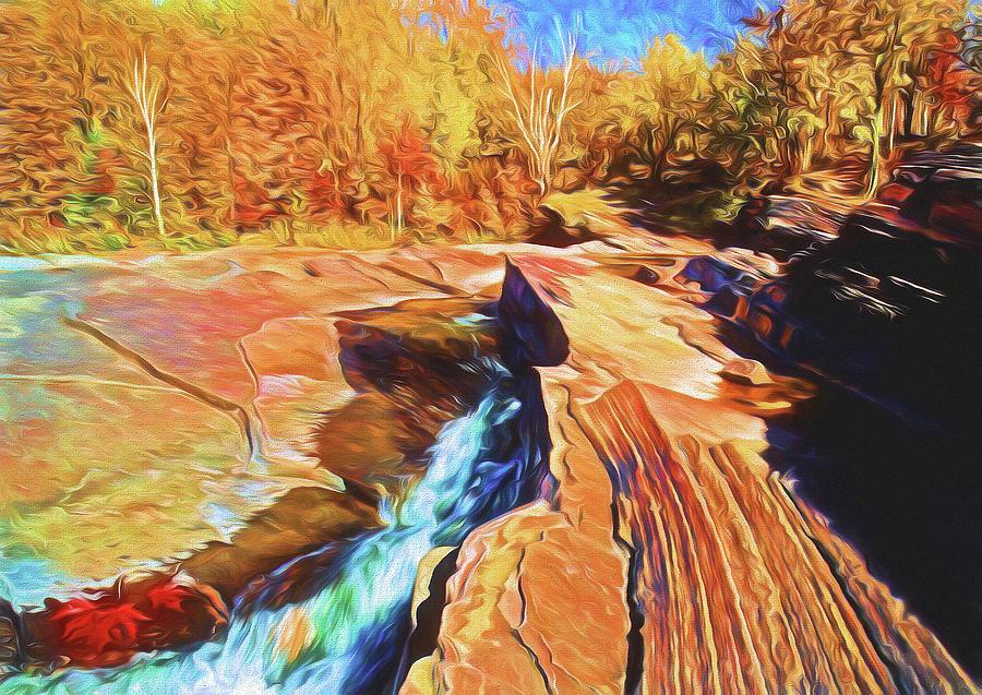 Use Photograph - Bonanza Falls by Dennis Cox WorldViews