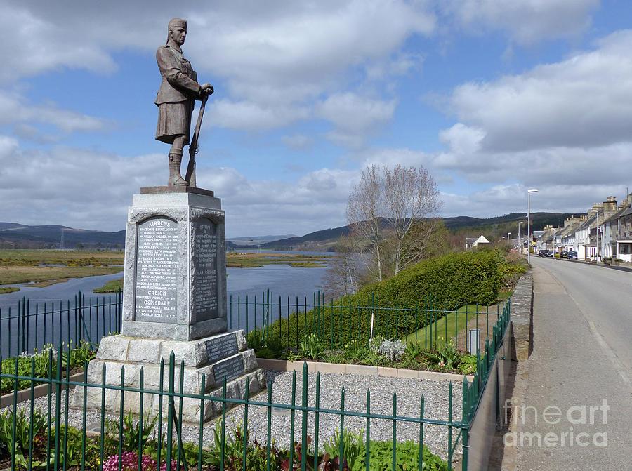 War Memorial Photograph - Bonar Bridge And The Kyle Of Sutherland by Phil Banks