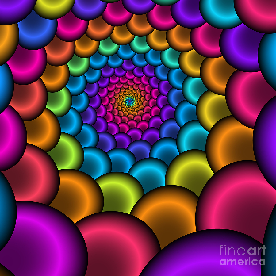 Zen Digital Art - Bonbon Funnel 221 by Rolf Bertram