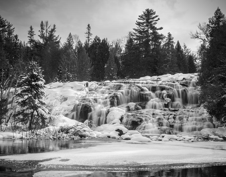 Bond Falls Photograph - Bond Falls In Black And White by Kimberly Kotzian