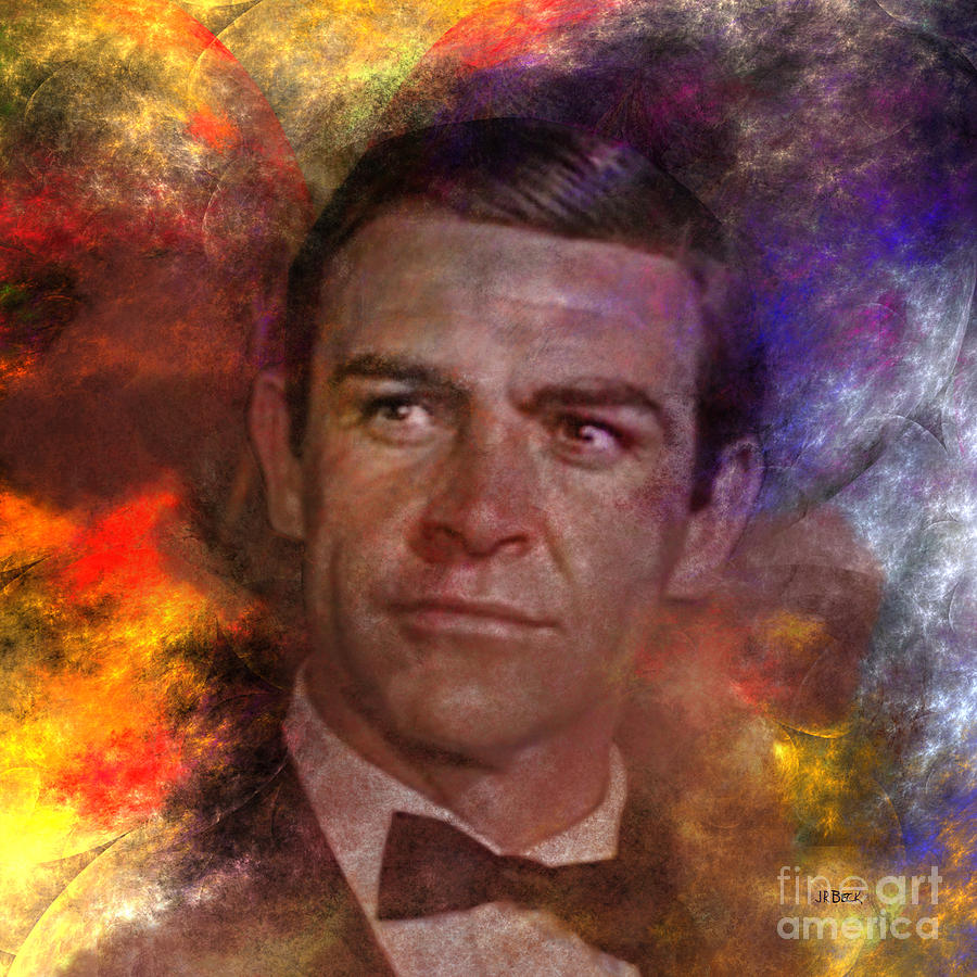 James Bond Digital Art - Bond - James Bond - Square Version by John Robert Beck