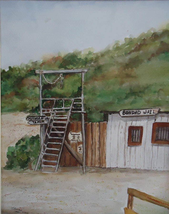 Jail Painting - Bondad Colorado Jail by Charme Curtin
