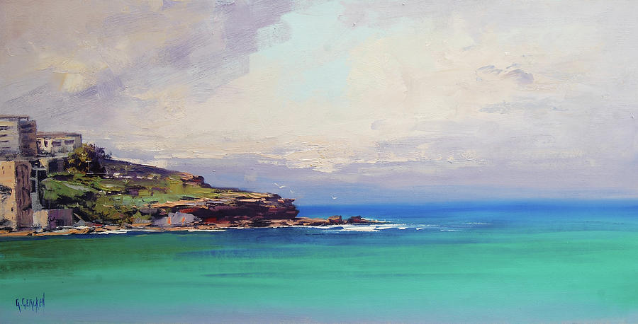 Nature Painting - Bondi Beach Colours by Graham Gercken