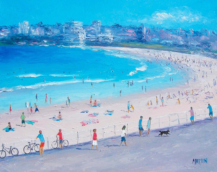 Bondi Beach Painting - Bondi Beach Summer by Jan Matson