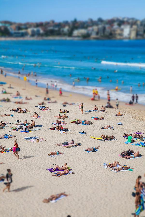Sydney Photograph - Bondi People by Az Jackson