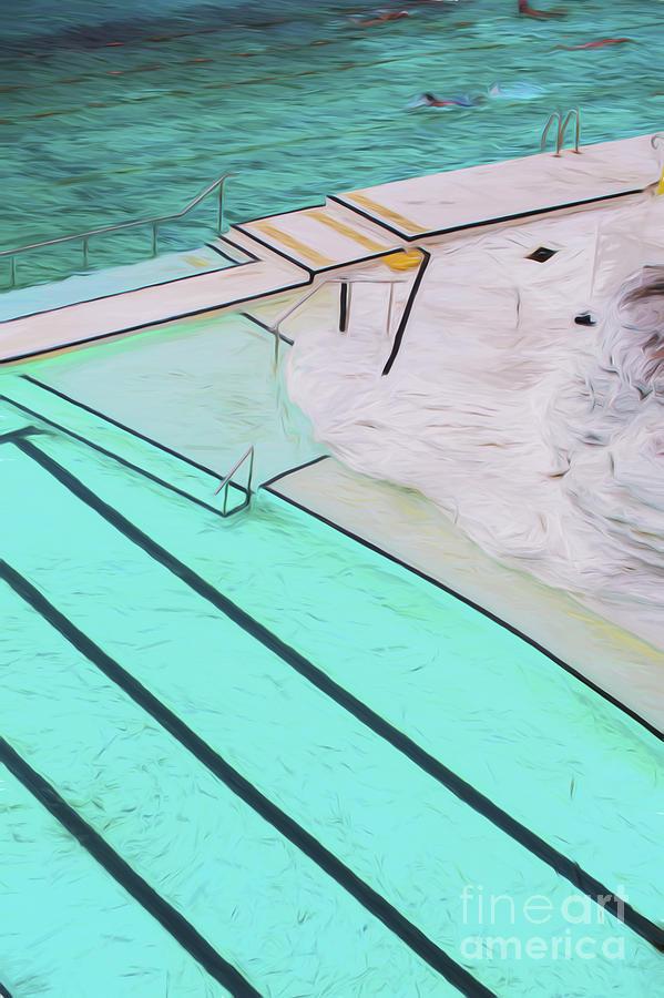Swimming Pool Photograph - Bondi Pool Abstract by Sheila Smart Fine Art Photography