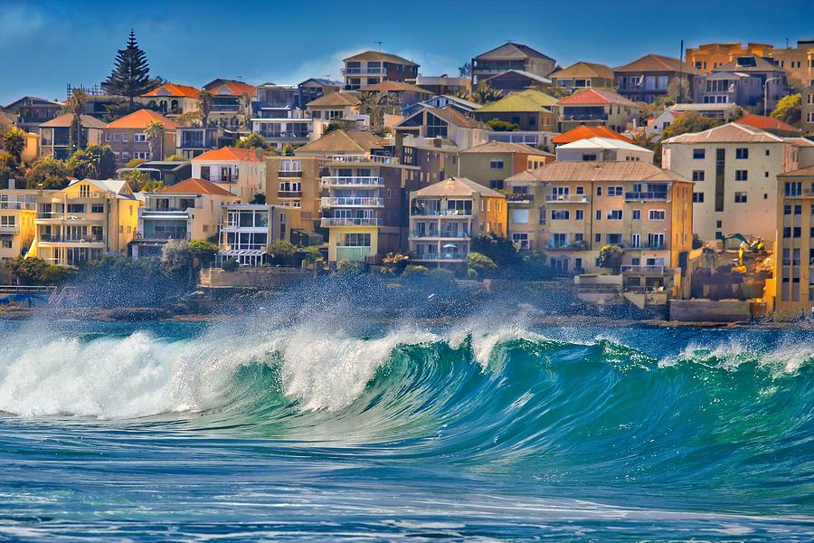 Sydney Photograph - Bondi Waves by Az Jackson