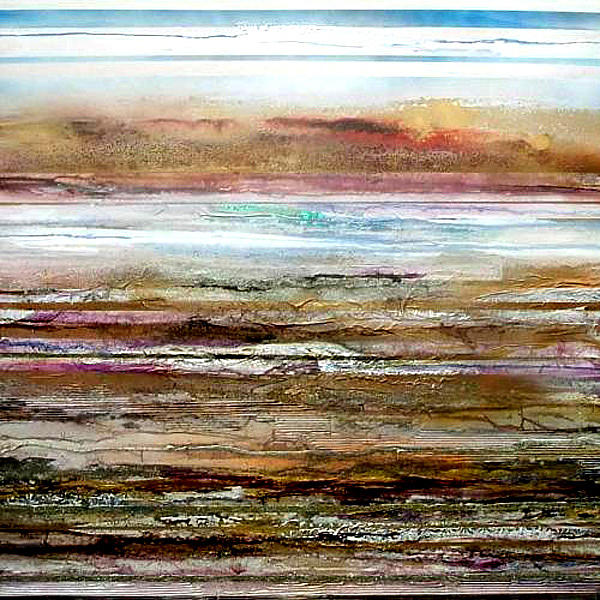 Bondicar Rocks Low Tide No1 Mixed Media by Mike   Bell