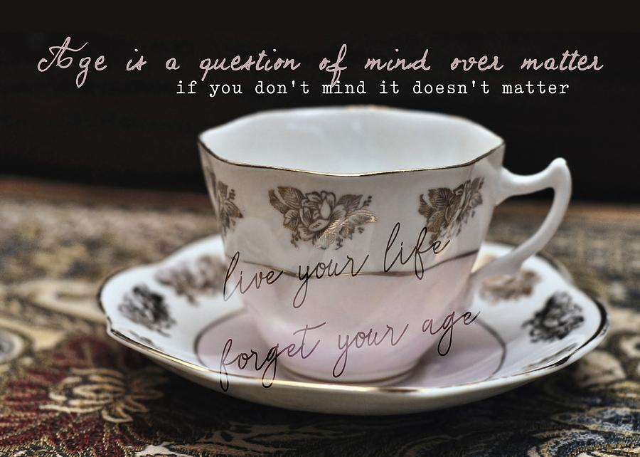 Bone Photograph - Bone China Quote by JAMART Photography