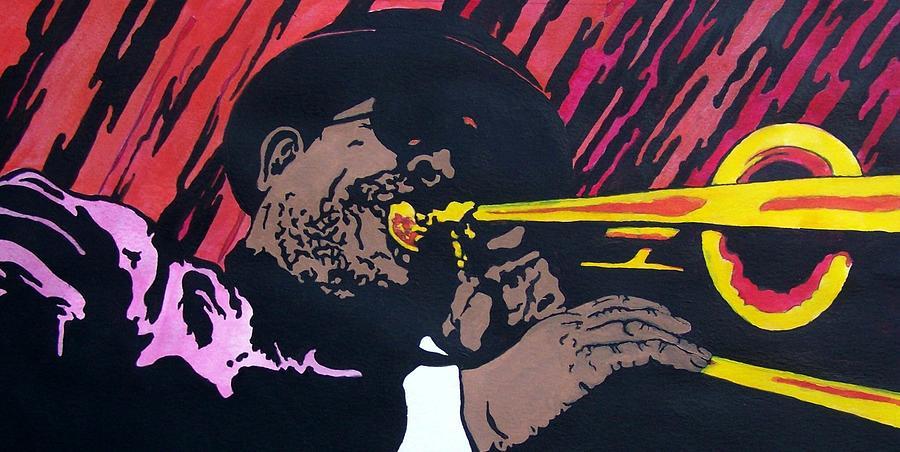 Jazz Painting - Bone Daddy by Shane Hurd