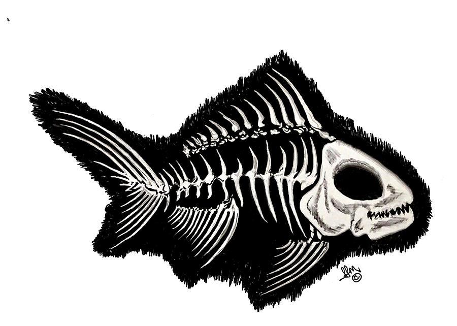 Скелет рыбы картинки с надписями