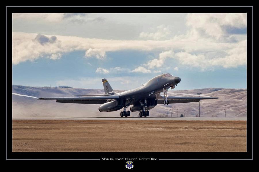Aviation Digital Art - Bone-in Lancer by Peter Chilelli