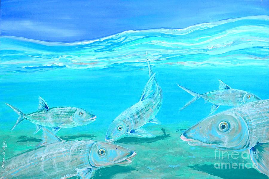 Beach Painting - Bonefish by Paola Correa de Albury