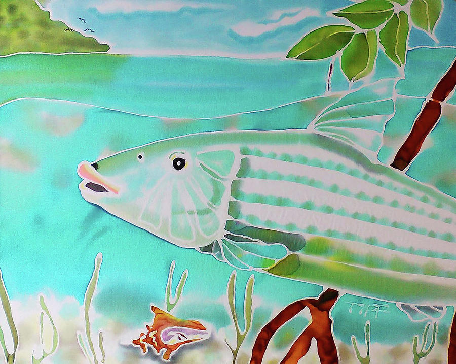 Bonefish Painting - Bonefish by Tiff
