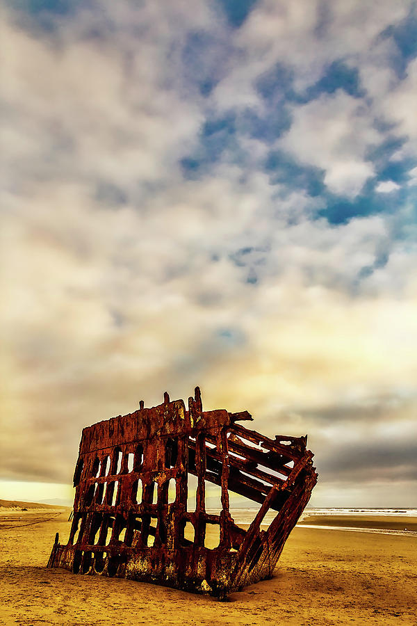 Rusty Photograph - Bones Of A Shipwreck by Garry Gay