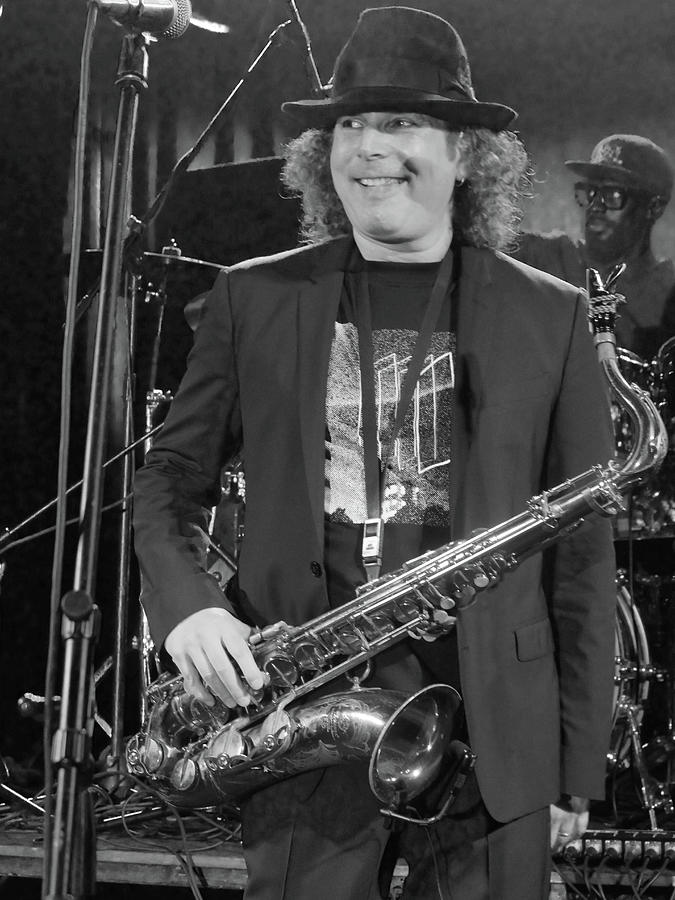 Boney James Smiling at Hub City '17 by Leon DeVose
