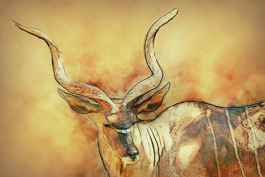 Zoo Painting - Bongo by Jack Zulli