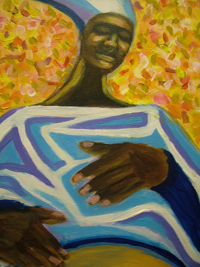 Painting Painting - Bongo Man II by Jan Gilmore