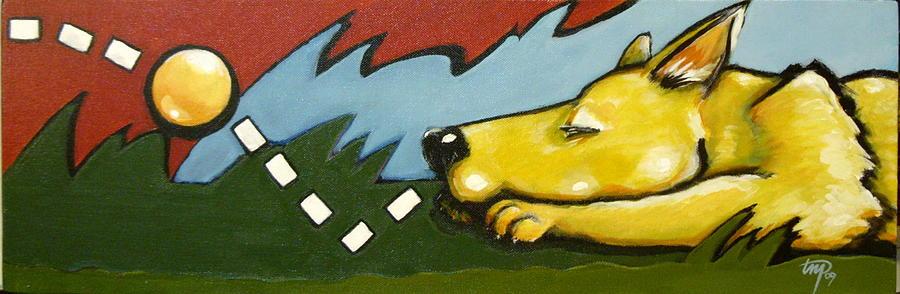 Dogs Painting - Bonk by Teresa Nolen Pratt