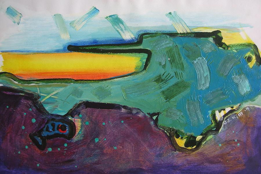Bonne Bay Paintings Painting - Bonne Bay3 by Seon-Jeong Kim