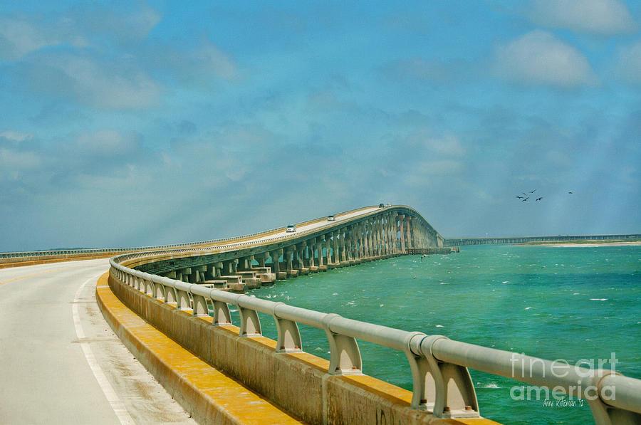 Bonner Bridge Photograph - Bonner Bridge - Highway 12 Nc by Anne Kitzman
