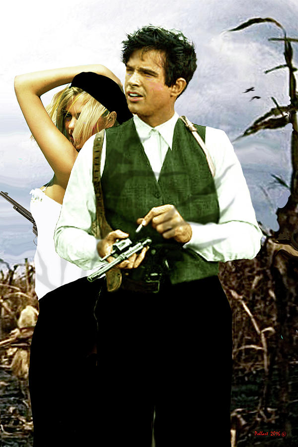 Bonnie And Clyde Mixed Media - Bonnie And Clyde by Thomas Pollart