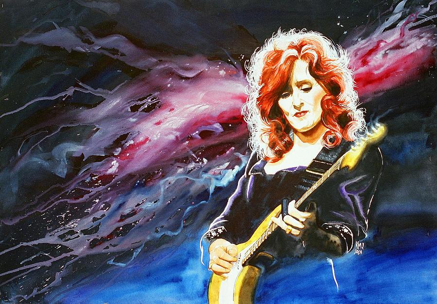 Women Painting - Bonnie Raitt by Ken Meyer jr