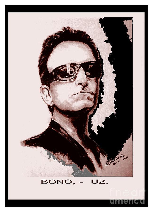 Portraiture Painting - Bono U2 by Liam O Conaire